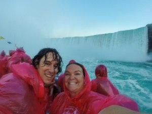 Getting soaked at the Niagara Falls